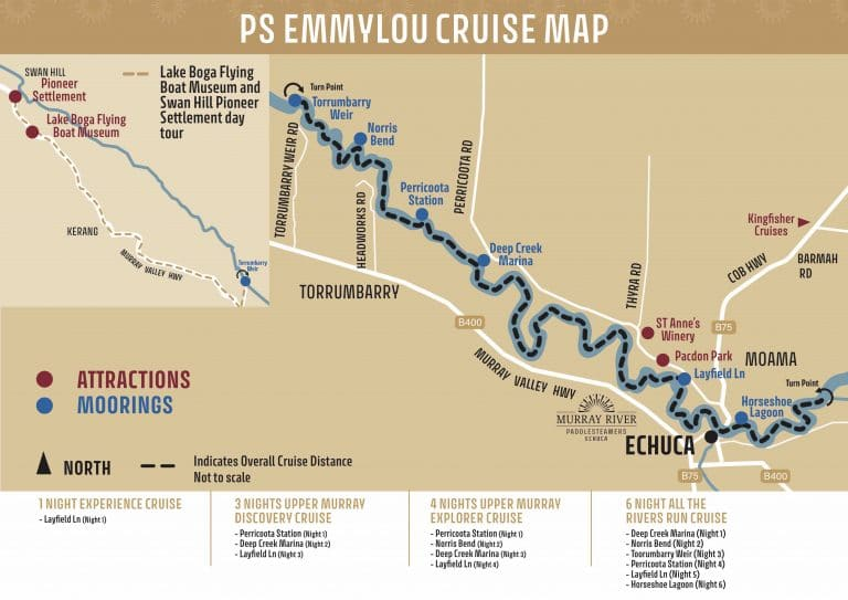 Emmylou Map 1 to 6 Nights