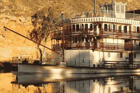 The Murray Princess sailing on the Murray River