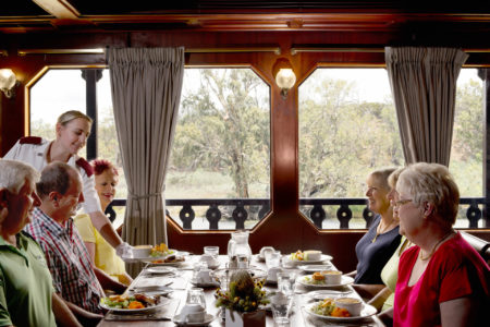 Passenger enjoy delicious meal in the Murray Princess Dining hall