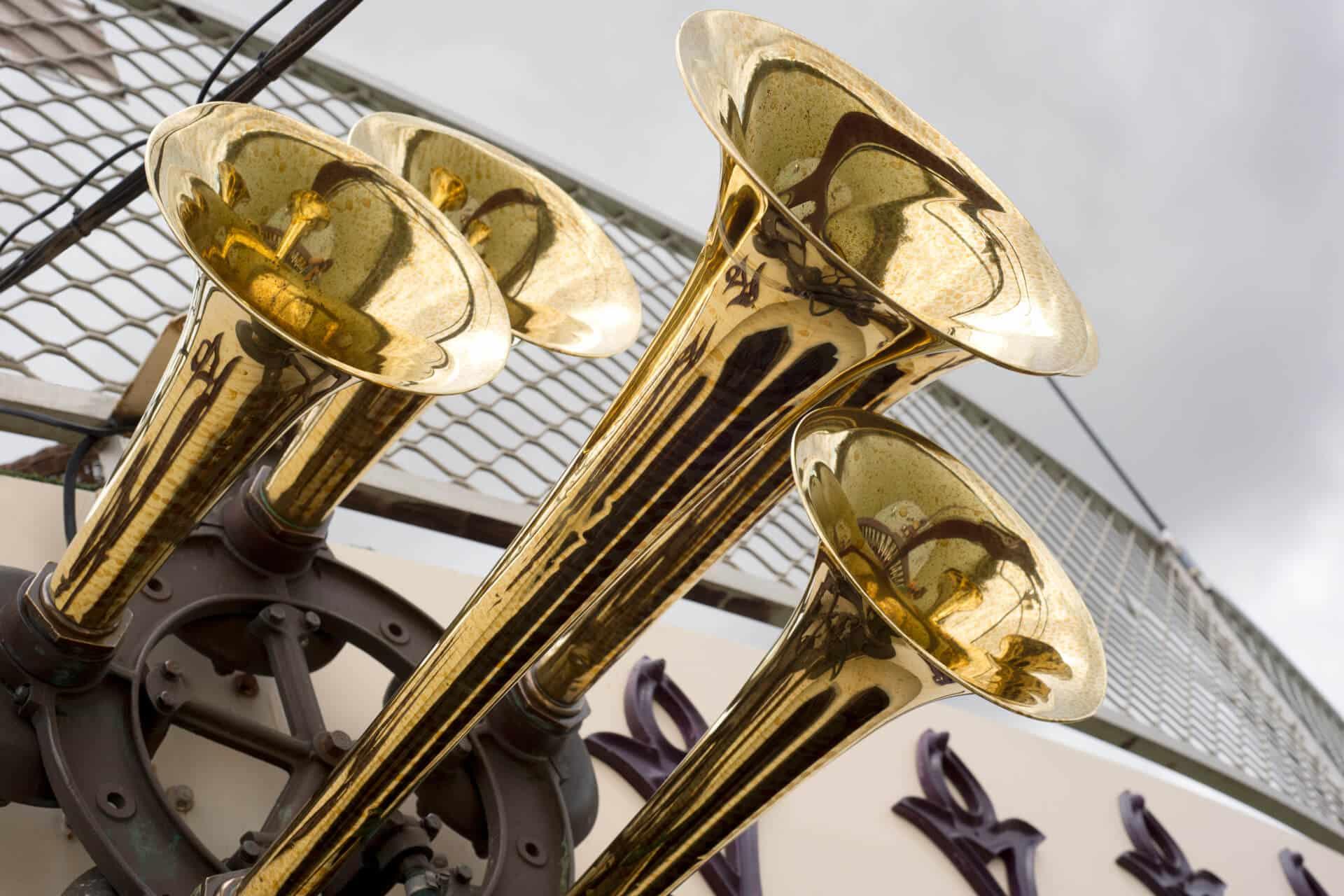 Brass horns on the Murray princess
