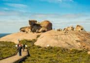 Tour groups at Remarkable Rocks, Kangaroo Island
