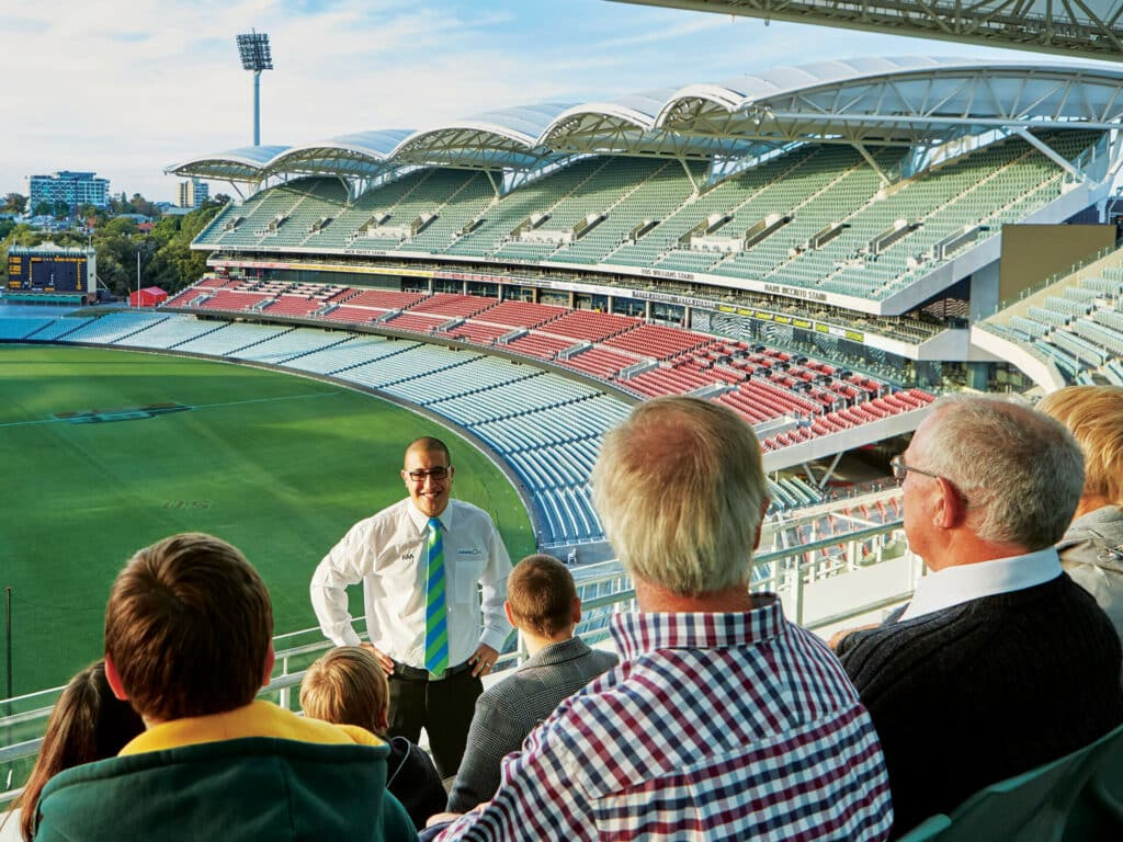 Tour group in Adelaide Oval