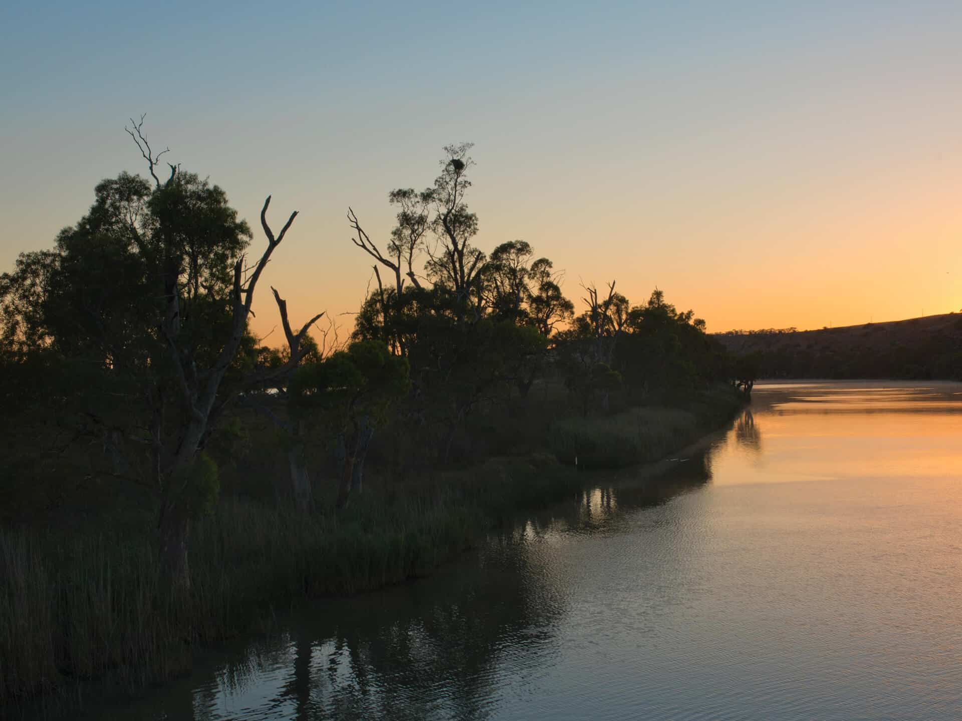 Picturesque sunset on the Murray River