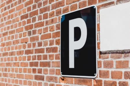 Sign indicating parking space