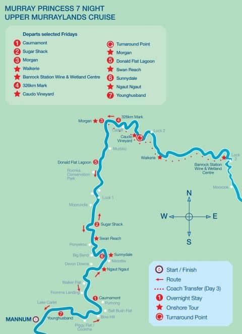 MR7 Upper Murraylands Cruise Map