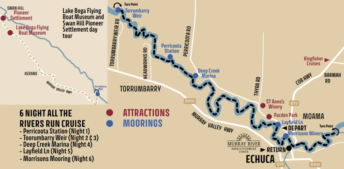 EML 6 Night Cruise Map
